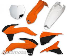 UFO Kit plastique UFO couleur origine (13-14) orange/noir/blanc KTM