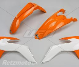 UFO Kit plastique UFO couleur origine (15-16) orange/blanc KTM