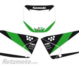 BLACKBIRD Fonds de plaque BLACKBIRD Graphic blanc Kawasaki KX250F
