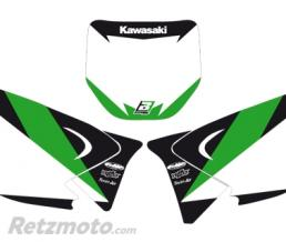 BLACKBIRD Fonds de plaque BLACKBIRD Graphic blanc Kawasaki KX125/250