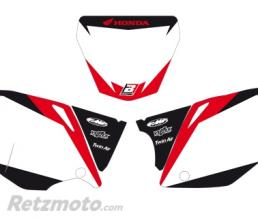 BLACKBIRD Fonds de plaque BLACKBIRD Graphic blanc Honda CRF450R