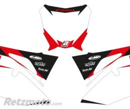 BLACKBIRD Fonds de plaque BLACKBIRD Graphic blanc Honda CRF250R/450R/RX