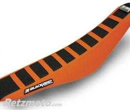 BLACKBIRD Housse de selle BLACKBIRD Zebra noire/orange KTM EXC/F - SX/SX-F