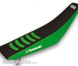 BLACKBIRD Housse de selle BLACKBIRD Double Grip 3 noir/vert Kawasaki KX250F KX450F