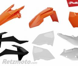 POLISPORT Kit plastique POLISPORT couleur origine (2018) orange/blanc/noir KTM EXC/EXC-F