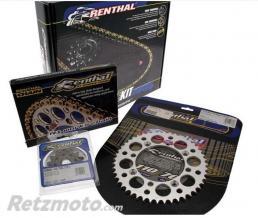 RENTHAL Kit chaîne RENTHAL 520 type R1 13/49 (couronne Ultralight anti-boue) Kawasaki KX250F