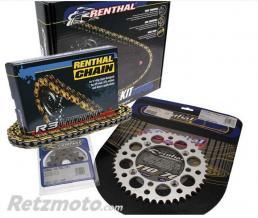 RENTHAL Kit chaîne RENTHAL 520 type R3-2 13/48 (couronne Ultralight anti-boue) Yamaha WR125Z