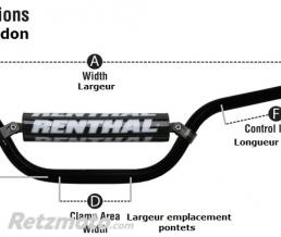RENTHAL Guidon Ø28,6mm avec barre RENTHAL Twinwall replica Reed/Windham vert/mousse noire