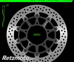 NG Disque de frein NG 1041 rond semi-flottant