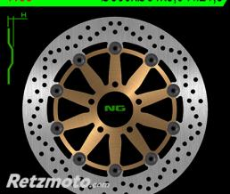 NG Disque de frein NG 1138 rond semi-flottant