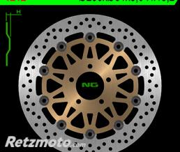 NG Disque de frein NG 1212 rond semi-flottant