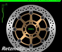 NG Disque de frein NG 1236 rond semi-flottant