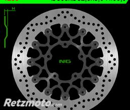 NG Disque de frein NG 1253 rond semi-flottant
