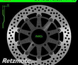 NG Disque de frein NG 1256 rond semi-flottant
