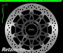 NG Disque de frein NG 1273 rond semi-flottant