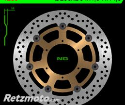 NG Disque de frein NG 1289 rond semi-flottant