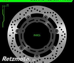 NG Disque de frein NG 165 rond semi-flottant