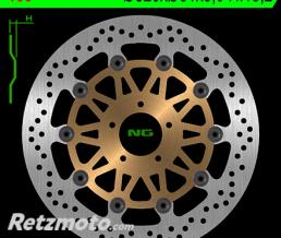 NG Disque de frein NG 166 rond semi-flottant