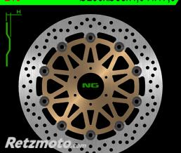 NG Disque de frein NG 216 rond semi-flottant