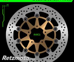 NG Disque de frein NG 458 rond semi-flottant