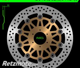 NG Disque de frein NG 751 rond semi-flottant