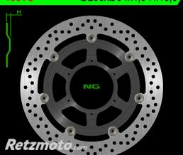 NG Disque de frein NG 1581G rond semi-flottant