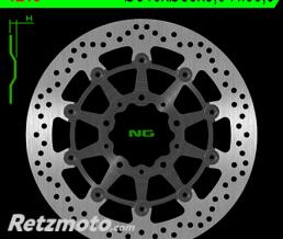NG Disque de frein NG 1213 rond semi-flottant