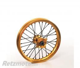 HAAN WHEELS Roue avant complète HAAN WHEELS 17X3.50X36T jante or/moyeu or/rayons noirs/têtes de rayons noirs KTM/Husqvarna
