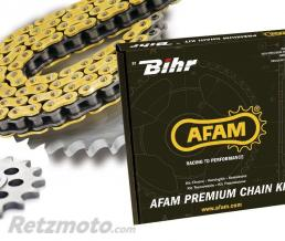 Kit chaine AFAM 428 type MX (couronne ultra-light anodisé dur) KAWASAKI KX100