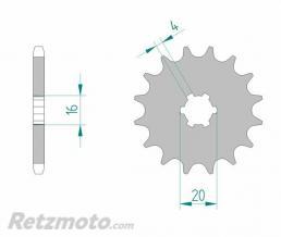 Kit chaine AFAM 428 type R1 (couronne standard) SUZUKI TS125X