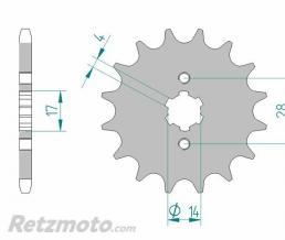 Kit chaine AFAM 428 type R1 (couronne standard) DERBI TERRA 125