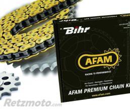 Kit chaine Kawasaki KLX110 AFAM 420 type R1 15/38 (couronne standard)