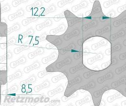 Kit chaine KTM SX50 AFAM 415 type F 11x40 (couronne ultra-light anti-boue anodisé dur)