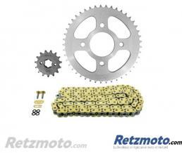 Kit chaine moto Honda CB125F AFAM 428 type XMR 15/45 (couronne Standard)