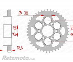 AFAM Couronne AFAM 38 dents acier pas 525 type 50801 Ducati