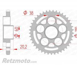AFAM Couronne AFAM 43 dents acier pas 525 type 50800 Ducati