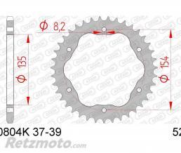 AFAM Couronne AFAM 38 dents acier pas 520 type 50804K Ducati 1198