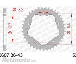 AFAM Couronne AFAM 38 dents acier pas 520 type 50607 Ducati