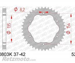 AFAM Couronne AFAM 40 dents acier pas 525 type 50803K Ducati Panigale 1199 ABS