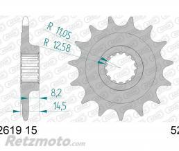 AFAM Pignon AFAM 15 dents type 52619 pas 520 acier Ducati 821 Monster