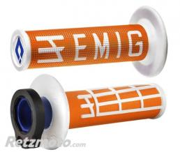 ODI Revètements Lock-On ODI Emig V2 orange/blanc