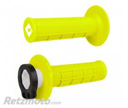 ODI Revètements ODI MX V2 Lock-On semi-gauffré jaune fluo