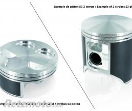 S3 Piston S3 coulé Ø72,47mm compression standard Ossa TR250I