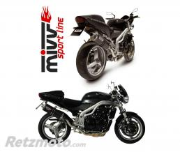 MIVV Silencieux MIVV Oval Classic carbone Triumph Speed Triple 955 I