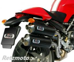 MIVV Silencieux double MIVV GP carbone Ducati Monster S2R 800
