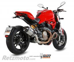 MIVV Silencieux MIVV Speed Edge inox/casquette carbone Ducati Monster 1200