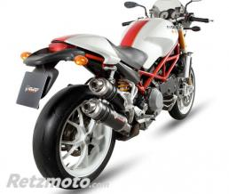 MIVV Silencieux double MIVV GP carbone Ducati Monster 1000 S4RS TE