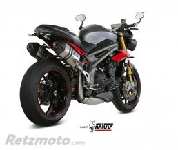MIVV Silencieux MIVV Speed Edge double inox/casquette carbone Triumph Street Triple 1050