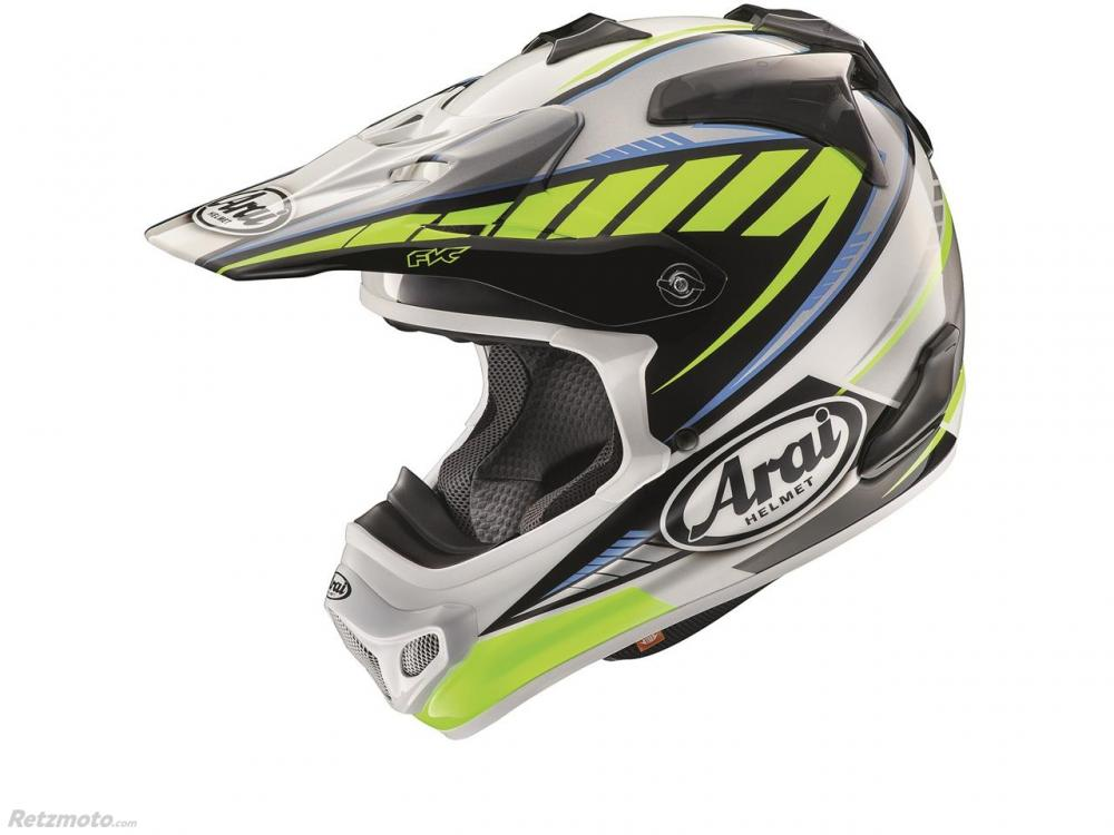Casque ARAI MX-V Rumble Yellow taille L
