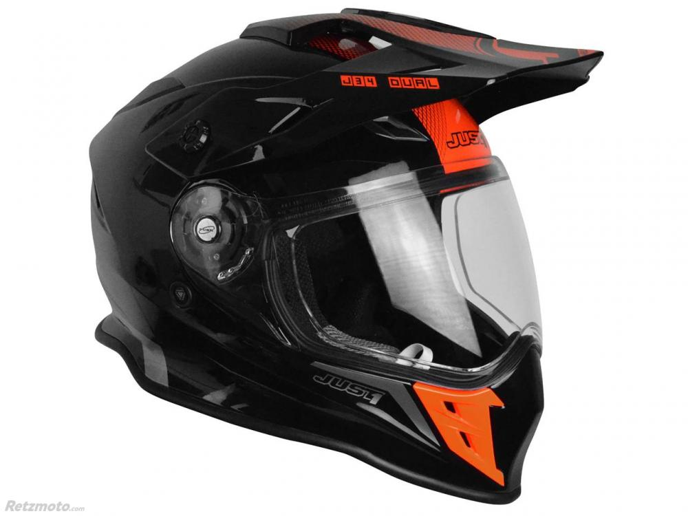Casque JUST1 J34 Adventure Shape Red Neon Gloss taille XL